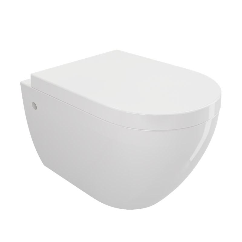 Symphony i rim wall hung wc white glossy atelier - Wc a l oud ...